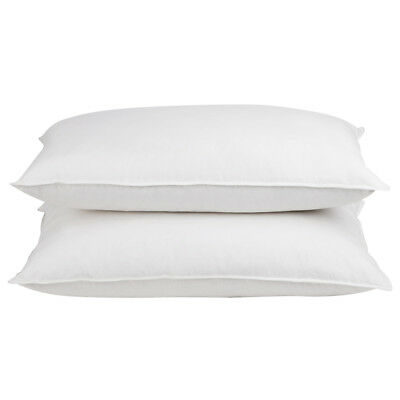 2x Goose Feathers Down Large Pillow Set Cotton Standard Home Hotel Bedding Pack