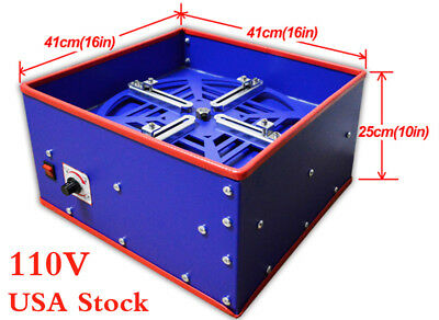 USA! 110V Pad Printing Electric Emulsion Coating Machine Suitable Steel Plate