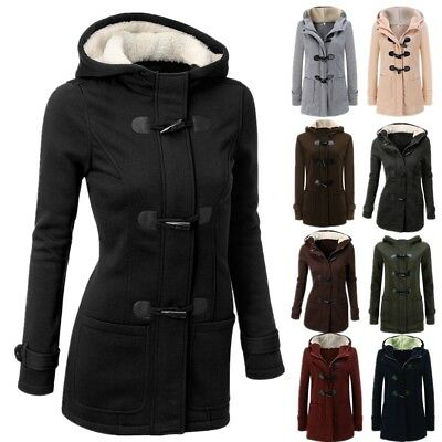 AU 6-22 Winter Womens Warm Coat Jacket Outwear Trench Lady Hooded Parka Overcoat