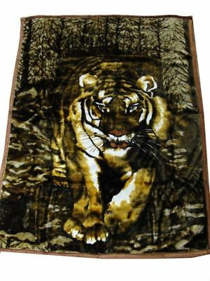 Quality Thick Queen Size Mink Blanket  Tiger 200x240cm - Soft & Warm 4kg