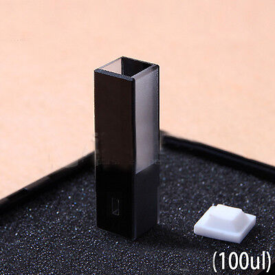 100ul 10mm Path Sub-Micro JGS1 Quartz Cell With Black Walls Center Height 8.5mm