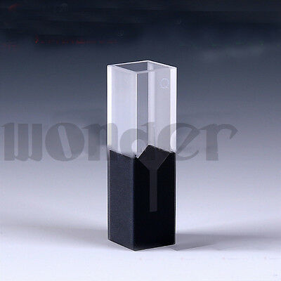 200ul 10mm Path Length Sub-Micro JGS1 Quartz Cell With Black Walls And Lid