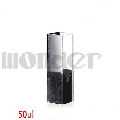 50ul 10mm Path Length Sub-Micro JGS1 Quartz Cell With Black Walls And Lid