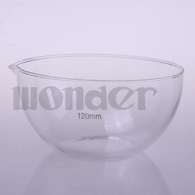 120mm Diameter Glass Evaporating dish plat bottom with spout For Laboratory