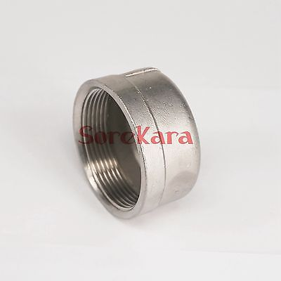 """2"""" BSP Female 304 Stainless Steel Pipe Fitting Countersunk End Cap"""