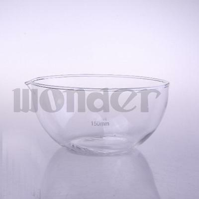 150mm Diameter Glass Evaporating dish plat bottom with spout For Laboratory