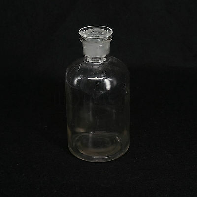 500ml Clear Glass Narrow Mouth Bottle With Stooper Lab Chemistry Glassware