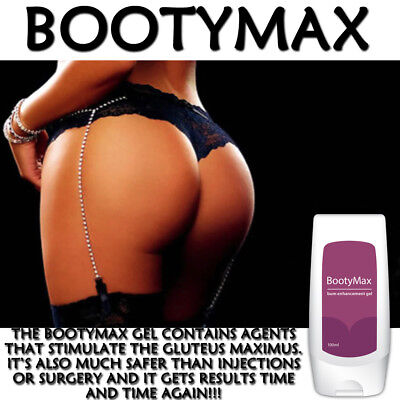 Bootymax Bum Enlargement Gel Sexy Toned Firm Bootylicious Rounder Ass !