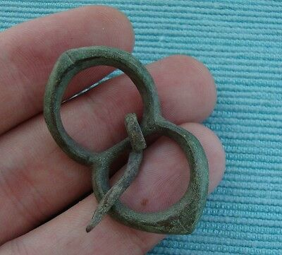 Ancient Celtic Belt Buckle first century BC bronze beautiful unusual double dual
