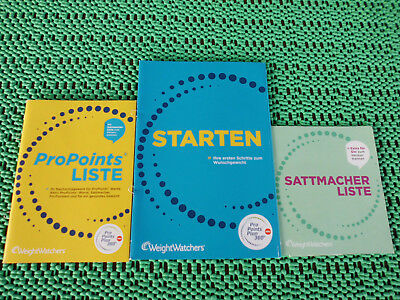 Weight Watchers Propoints Liste 1000 Lebensmittel + Sattmacher Liste + Starten
