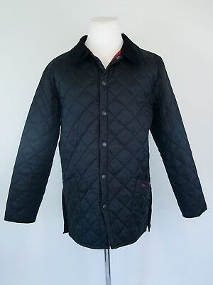 MINT Barbour Heritage Liddesdale Black Quilted Jacket Men's Large