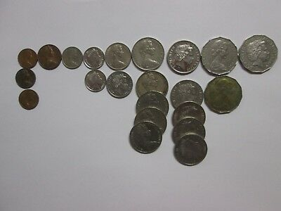 AUSTRALIA Bulk Coin Lot, 22 coins, Circulated - Very Good Condition