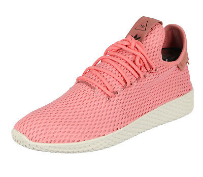 newest 3ed44 2d0e4 ADIDAS Pharrell Williams Tennis HU Casual Shoes sz 8.5 Tactile Rose Pink  Cream