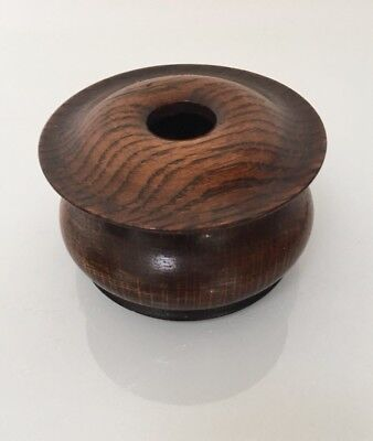 Vintage Wooden Treen Pot Box with Lid - For Spooling Ribbon?