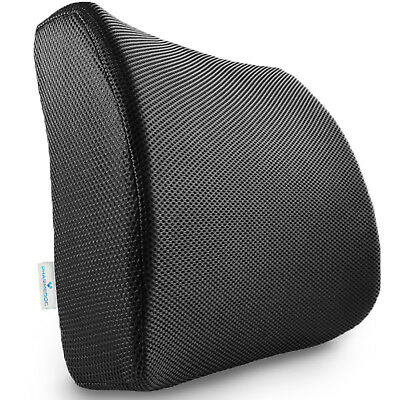 Memory Foam Lumbar Support Pillow Seat Cushion for Office Chair & Car Seat