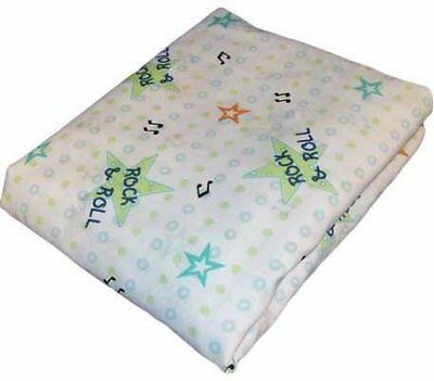 Lambs and Ivy Band Stand Bears Fitted Sheet Blue