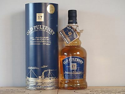 Whisky old Pulteney 17 Jahre Single Malz doppelt Gold 2006 70cl 46°