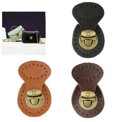 Genuine Leather Bag Lock Fasteners Snap Buckles Clasp Replacement Purse Making
