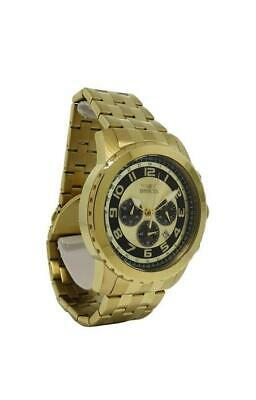 Invicta Specialty 19463 Men's Round Analog Chronograph Date Gold Tone Watch