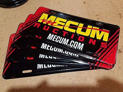 FREE S&H! Mecum Auto Auctions Rare Actual Show License Plate Colorful Aluminum