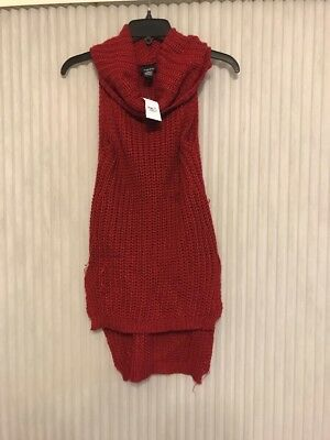 65845f7c96 CARBON Rue 21 Size XS A sleeveless turtleneck Sweater Ships N 24h