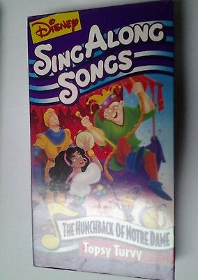 disney sing along songs the hunchback of notre dame topsy turvy very good vhs picclick. Black Bedroom Furniture Sets. Home Design Ideas