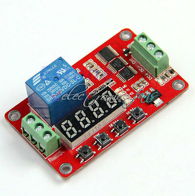 12V DC Multifunction Self-lock Relay PLC Cycle Delay Time Timer Switch Modul