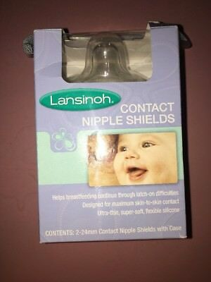 Lansinoh Contact Nipple Shields, 2 Count, New, Sealed
