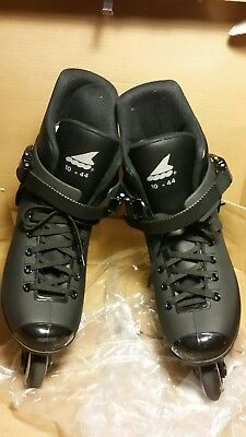 vintage lightly used rollerblades lightning mens size 10 black with