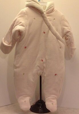 NWT First Impressions Baby Girl Pink Plush Snowsuit 6-9M MSRP $70 Free Shipping
