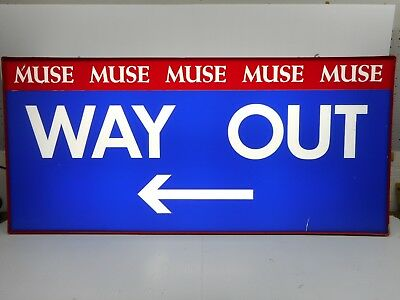 """Radford College University Virginia MUSE Hall """"Way Out"""" Lighted Exit Sign Box"""