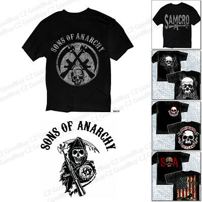 SPIRAL Sons of Anarchy REAPER MONTAGE Long sleeve T-Shirt SOA//Biker//Rock//Metal