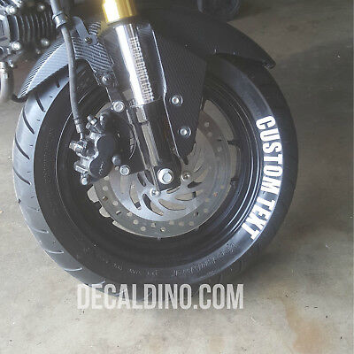 "Tire Lettering Kit - for Grom / Z125 - Custom Text Stickers for 12"" Wheel"