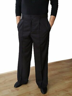Ballroom / Latin / Tango / Salsa Stretchy Mens Dance Trousers With Pockets Black