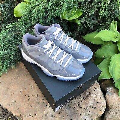 a89a2177a4d6b Nike Air Jordan 11 XI Retro Low COOL GREY Gunsmoke White 528895-003 MENS US8
