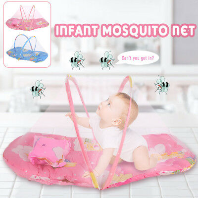 Baby Mosquito Net Newborn Mosquito Net Foldable 2 Colors Tent Summer Toddler