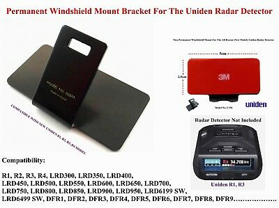 Permanent Windshield Mount For The Uniden Radar Detectors Good For R1,R3 Models