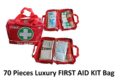 38 PIECES LUXURY FIRST AID KIT Bag Includes Tweezers Sterile gauze ... 6475542864011