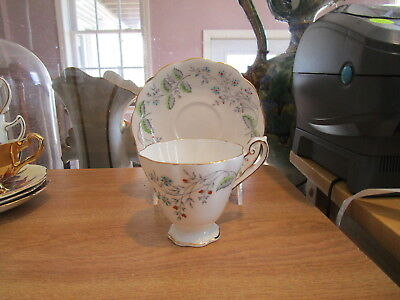 Royal Standard SPRING SONG Cup & Saucer - Raised Blue & Orange Flowers