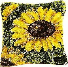 Vervaco Sunflowers Bold Latch Hook Cushion, Multi-Colour