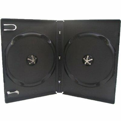 Four Square Media 10 X CD DVD  BLU RAY 14mm Black DVD Double Case for 2 Disc -