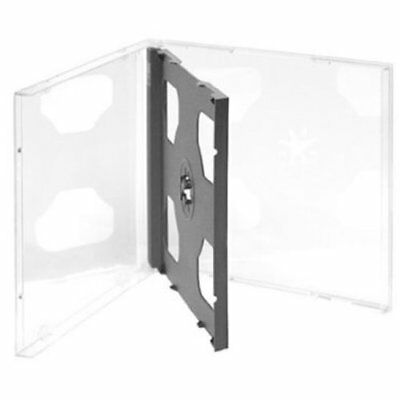 Four Square Media 1 X CD DVD Double Jewel Cases 10.4mm for 2 Disc with Black Tra
