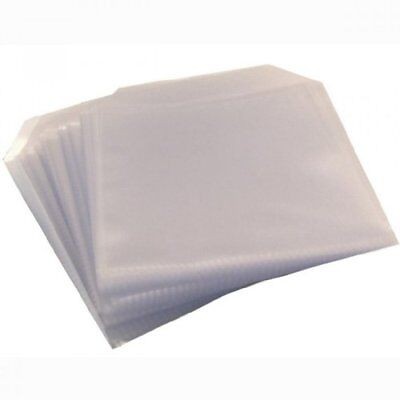 Four Square Media 2500 CD DVD DISC CLEAR COVER CASES PLASTIC 80 MICRON SLEEVE WA