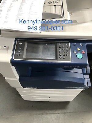 Xerox WC 5945,workcenter,copier,printer,color scan,clean,finisher