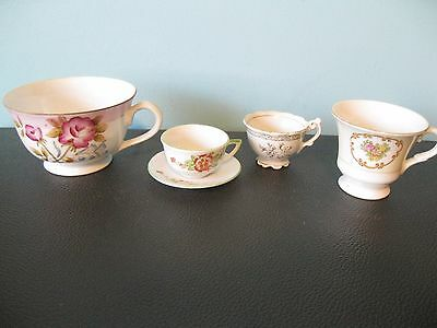 "Lot of Vintage - ""Made In Occupied Japan"" Mini Tea Cups & a Saucer"