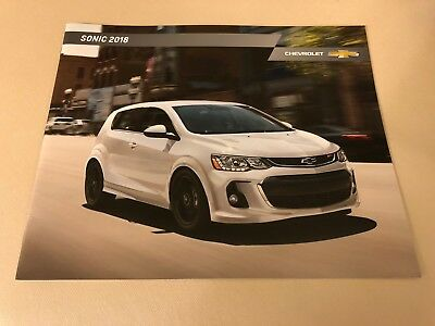 2018 CHEVY SONIC 18-page Original Sales Brochure