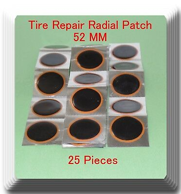 25 Pieces TP-052 Round Radial Repair Tire Patch Medium Size 52 MM High Quality