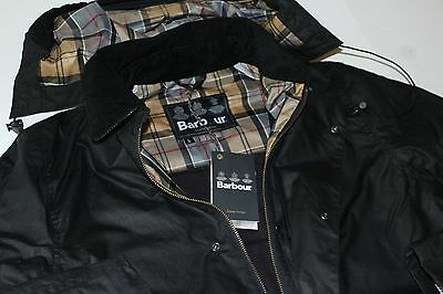 Barbour Long Jacket Medlow Waxed Black MWX0806NY51 NWT Large  L