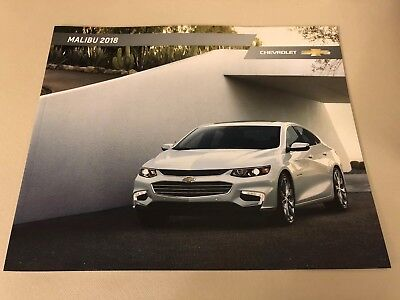 2018 CHEVY MALIBU 30-page Original Sales Brochure