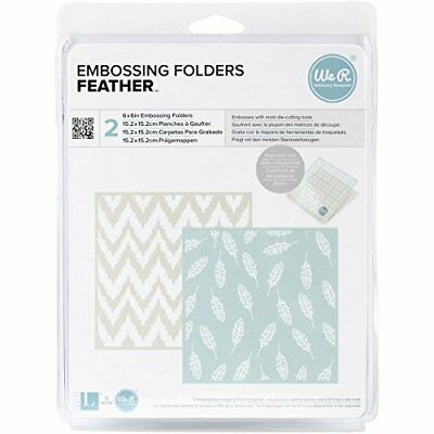 We R Memory Keepers Feather Embossing Folder,